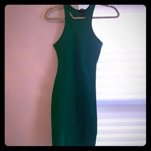 H&M tight emerald green body con dress